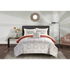 Mainstays Bedding Sets Mainstays Madeline Bed In A Bag Bedding Set Walmart Com