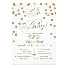 white and gold baby shower white gold baby shower invitations announcements zazzle