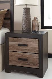 signature design by ashley harlinton warm gray charcoal two drawer