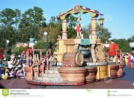 orlando thanksgiving parade pinocchio parade float in disney world orlando editorial image
