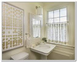 bathroom curtain ideas bathroom ideas circle patterned bathroom window curtains ideas with