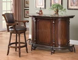 Home Bar Furniture by 100678 Bar Table W Optional Bar Stools By Coaster