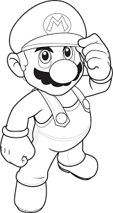 mario bros coloring pages give the best facilities for children u0027s