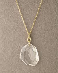quartz rock necklace images Lyst h stern dvf rock crystal quartz pendant in white jpeg
