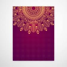 invitation card invitation card with beautiful mandala vector premium