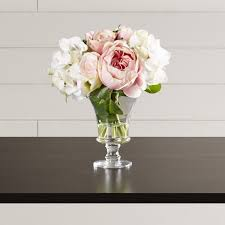 hydrangea bouquet one allium way faux and hydrangea bouquet in pedestal glass