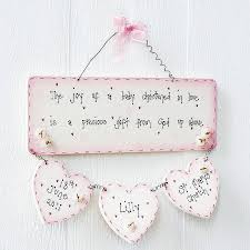 baby plaques personalised handmade christening plaque keepsake by primitive