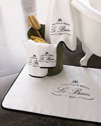 Paris Bathroom Rug by Kassatex Stylishly Trendy Le Bain Collection Tubmat Elegant