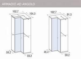armadio angolare misure misure armadio da letto 100 images armadio classico