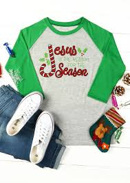 jesus is the reason for the season baseball t shirt
