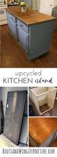 upcycled kitchen island with reclaimed wood top custom kitchens