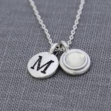 Personalized Initial Jewelry Opal Necklaces Beadage