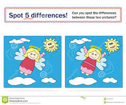 kids game spot 5 differences royalty free stock photo image