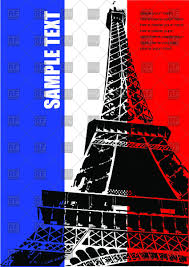 French Flag Eiffel Tower Landmark Of Paris Eiffel Tower And Flag Of France Royalty Free