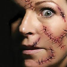 new cool trick horrible scars temporary men women waterproof