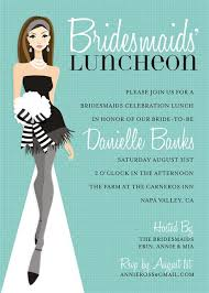 bridesmaid luncheon invitations bridal showers and