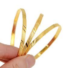 children s bracelets 3pcs set gold color alloy children golden bangle set fashion