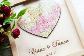 heart map art gift for newlyweds map gifts custom city print
