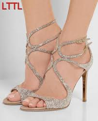 Rhinestone Sandal Heels Online Get Cheap Strappy Rhinestone Heels Aliexpress Com