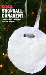easy kid made ornament inspired by the snowy day steam lab