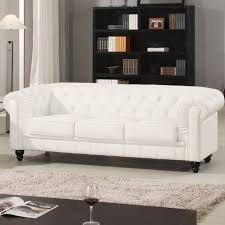 canap chesterfield blanc canape chesterfield cuir blanc capitonne 3 places canapé topkoo
