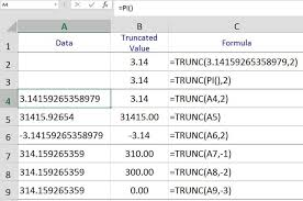 rounding integer numbers how to use exce sl trunc function