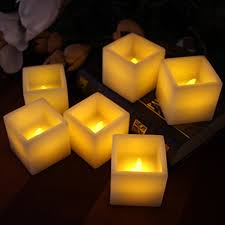 3 candle electric light festive flameless wax candles by led lytes 6 amber yellow