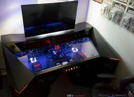 Roccaforte Game Desk by Ultimate Gaming Desk Great 5 My Ultimate Gaming Desk Setup Tour