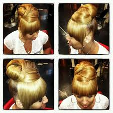 black hairstyles bun with bangs ideas about black hair buns with bangs cute hairstyles for girls