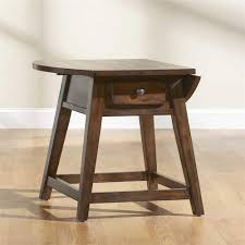 Drop Leaf End Table Broyhill Furniture Attic Rustic Splay Leg End Table With 1 Drawer