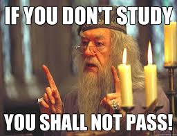You Shall Not Pass Meme - taking college coursework seriously especially exams steemit