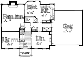 House Plans With Downstairs Master Bedroom First Floor Plan Of Colonial House Plan 67959 Get Rid Of Jut Outs
