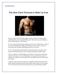bulk chest workout deby blog