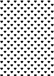 free printable heart pattern paper blackandwhite free