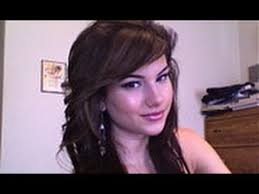 brunette hairstyles wiyh swept away bangs how to style side swept bangs youtube