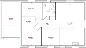 plan de maison plain pied 3 chambres plan maison 80m2 3 chambres avie home con plan de maison plain pied