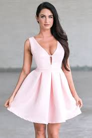 pink a line party dress cute pink dress lily boutique