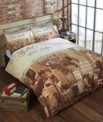New York City Duvet Cover Catherine Lansfield Cotton Blend Landscape New York City Duvet