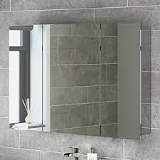 600 x 900 stainless steel bathroom mirror cabinet modern triple