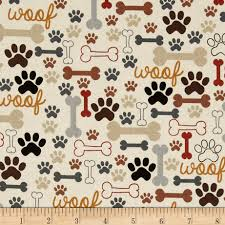 Home Decor Print Fabric Timeless Treasures Dog Bones U0026 Paw Prints Cream From Fabricdotcom