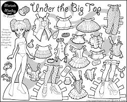 circus paper doll for coloring printable paper dolls and paper