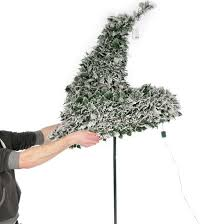 pop up tree 6ft pre lit snow flocked pop up christmas tree 200 warm white lights
