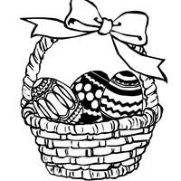 easter basket with eggs coloring page easter basket filled with eggs coloring page