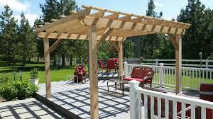 Building A Pergola On Concrete by Pergolas Skyline Deck U0026 Construction Trex Decking