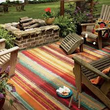 Large Outdoor Camping Rugs by Mohawk Home Avenue Stripe Indoor Outdoor Nylon Rug Multi Colored
