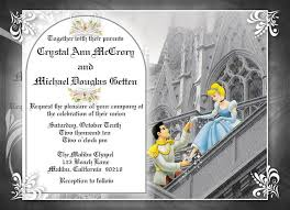 cinderella wedding invitations themed invitation designs