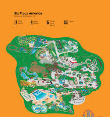 6 Flags Map Six Flags Park Maps Illustration On Behance