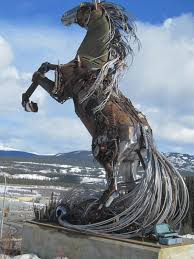 horse statues for home decor wildfire welded metal horse sculpture made out of reclaimed