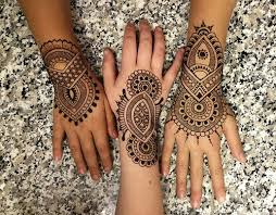 symbol black henna design arm henna