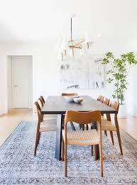 Modern Dining Room Rugs A Minimalist Mid Century Home Tour Mid Century Minimalist And